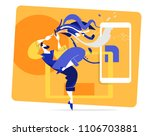 the ux designer create an... | Shutterstock .eps vector #1106703881