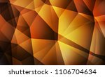 dark orange vector polygon... | Shutterstock .eps vector #1106704634