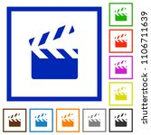 clapperboard flat color icons... | Shutterstock .eps vector #1106711639
