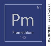 promethium pm chemical element... | Shutterstock .eps vector #1106713334