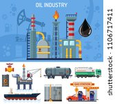 oil industry banner with flat... | Shutterstock .eps vector #1106717411