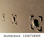 nice textured stony wall with... | Shutterstock . vector #1106718305