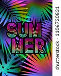 summer tropical background... | Shutterstock .eps vector #1106720831