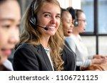 friendly beautiful caucasian... | Shutterstock . vector #1106721125