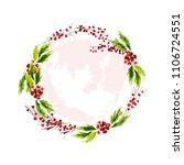 vector artistic watercolor hand ... | Shutterstock .eps vector #1106724551