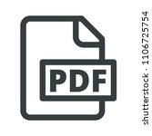 the usual icon pdf. simple ... | Shutterstock .eps vector #1106725754