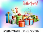 set of gift boxes of different... | Shutterstock . vector #1106727209