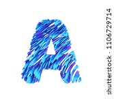 alphabet letter a uppercase.... | Shutterstock . vector #1106729714