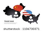communication between china and ... | Shutterstock .eps vector #1106730371