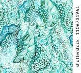 seamless watercolor wave hand...   Shutterstock . vector #1106731961