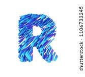 alphabet letter r uppercase....   Shutterstock . vector #1106733245
