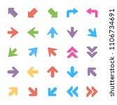arrows vector icons set