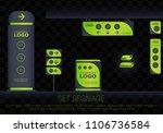 set signage.office exterior... | Shutterstock .eps vector #1106736584