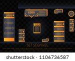 set signage.office exterior... | Shutterstock .eps vector #1106736587