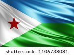 djibouti flag of silk 3d... | Shutterstock . vector #1106738081
