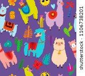 cartoon seamless pattern with... | Shutterstock .eps vector #1106738201
