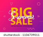 big summer sale sign with... | Shutterstock .eps vector #1106739011