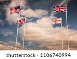 english  british and american... | Shutterstock . vector #1106740994