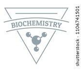 biochemistry logo. simple...   Shutterstock . vector #1106741501