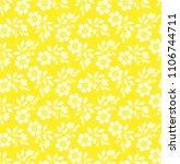 flower pattern. seamless white... | Shutterstock .eps vector #1106744711
