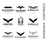 eagle logo vector design ...   Shutterstock .eps vector #1106746211