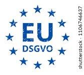eu dsgvo sign illustration | Shutterstock .eps vector #1106746637