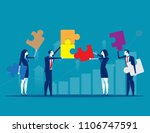solutions. business team and... | Shutterstock .eps vector #1106747591