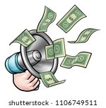 a megaphone or bullhorn with... | Shutterstock .eps vector #1106749511