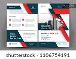 vector brochure layout  flyers...   Shutterstock .eps vector #1106754191