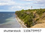 lighthouse at a baltic sea... | Shutterstock . vector #1106759957