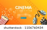 movie film banner design... | Shutterstock .eps vector #1106760434
