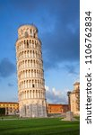 medieval leaning tower of pisa  ... | Shutterstock . vector #1106762834