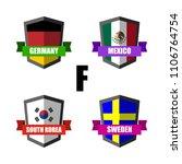 set of football badge vector...   Shutterstock .eps vector #1106764754