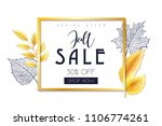 vector autumn sale banner with... | Shutterstock .eps vector #1106774261