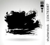 black brush stroke and texture. ... | Shutterstock .eps vector #1106783087