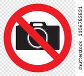 no cameras allowed sign. red...   Shutterstock .eps vector #1106783831
