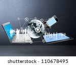 magic technology with social...   Shutterstock . vector #110678495