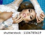 portrait of a beautiful  sexy... | Shutterstock . vector #1106785619