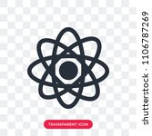 atom vector icon isolated on...   Shutterstock .eps vector #1106787269