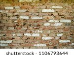 brick wall with clay | Shutterstock . vector #1106793644