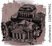 landmarks of sofia   national...   Shutterstock .eps vector #1106794901