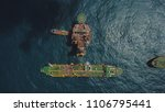 aerial view of a offshore... | Shutterstock . vector #1106795441