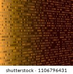 background with binary code.... | Shutterstock .eps vector #1106796431