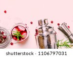 cranberry cocktail with ice ... | Shutterstock . vector #1106797031