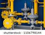 gas pipes in the boiler room | Shutterstock . vector #1106798144