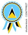 saint lucia award ribbon vector ... | Shutterstock .eps vector #1106799827
