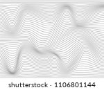 warped gray lines made for your ...   Shutterstock . vector #1106801144