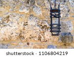 one steel lamp on an ancient... | Shutterstock . vector #1106804219