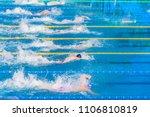 young swimmers in outdoor... | Shutterstock . vector #1106810819
