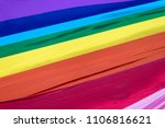 the 8 color gay pride flag used ... | Shutterstock . vector #1106816621